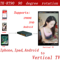 HDMI 90 degree rotation controller,mobil phone to vertical TV to display the app interface of the phone
