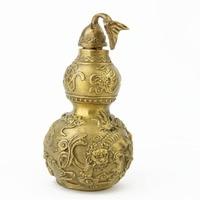 5 Cal mosiądz Feng Shui lew Wu Lou dla zdrowia zwiększyć rzeźby/WU LOU M4061 w Figurki i miniatury od Dom i ogród na