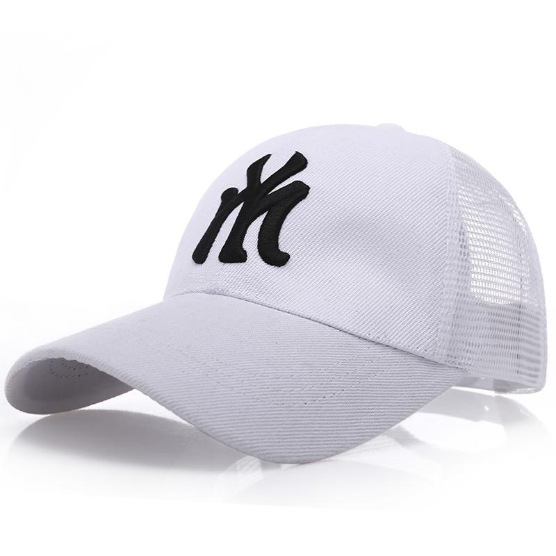 Valeak Fashion Men and Women Summer Baseball Cap Black Mesh Summer Hat