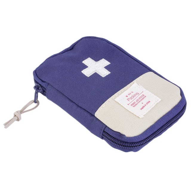 New Outdoor Camping Home Survival Portable First Aid Kit bag Case (Dark Blue)