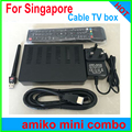 Latest Amiko hd mini combo dvb c for starhub box singapore hd 2017 set top box vs blackbox c608 qbox hd receiver c801hd c1+wifi