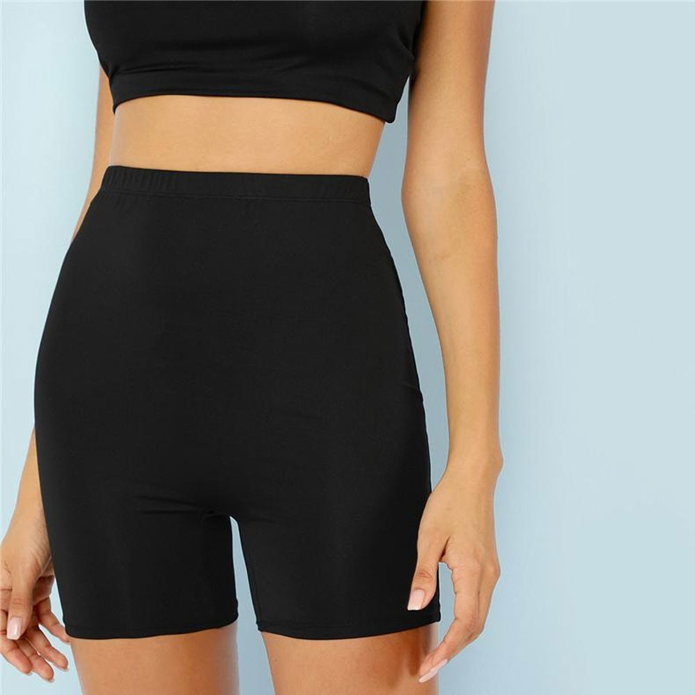 Jocoo Jolee High Waist Black Crop Fitness Leggings Sexy Short Leggings Athleisure Summer Ladies Casual Workout Leggings