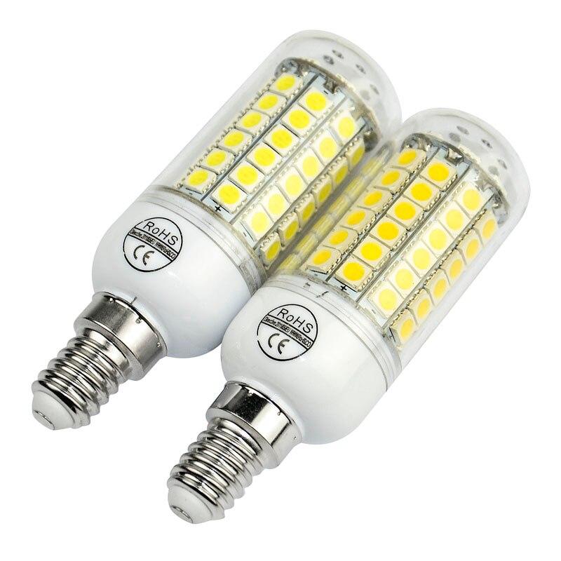 High quality E14 SMD 5050 led lamp 70leds 220V 110V led corn bulb White/Warm white light high quality g9 3w 80 led 3014 smd crystal silicone corn light lamp bulb pure white warm white 110 220v