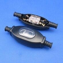 1 шт. Водонепроницаемый линейный переключатель, IP65 круглый провод, серебристый контактный двойной выключатель, пылезащитный переключатель CE ZJXXDZ 3A 250V