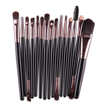15 Pcs Professional Cosmetic Makeup Brush Women Foundation Eyeshadow Eyeliner Lip Make Up Eye Brushes Set цены