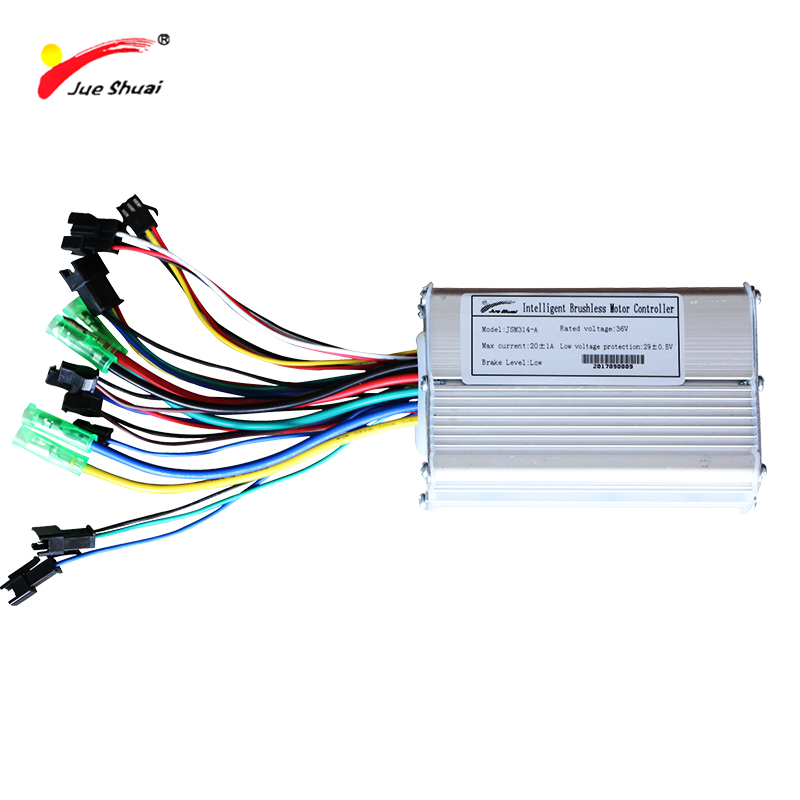 jueshuai Electric Bicycle 36V 250-500W Electric Bike Controller Sine Wave Stable LED LCD Display Brushless Ebike Controller bldc цены онлайн