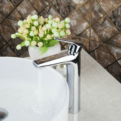 Monite Torneira 92344 Tall Soil Brass Wholesale/Retail Bathroom Basin Sink Cold/Hot Water Chrome Deck Mount Tap Mixer Faucet hpb smooth surface tall brass bathroom basin faucet hot and cold water single hole sink tap mixer torneira hp3131
