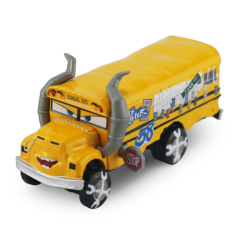 Disney Pixar Cars 3 New Role Miss Fritter Lightning McQueen Jackson Storm Cruz Ramirez Diecast Metal Model New Year Gift For Kid