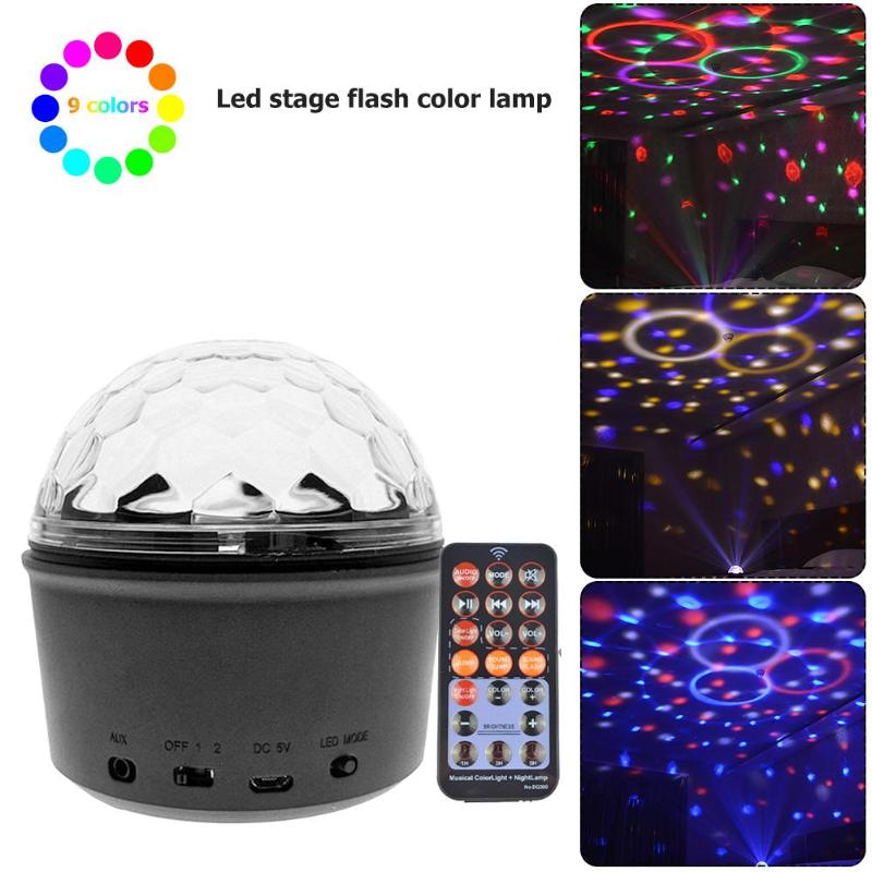 9 Colors Crystal Magic Ball LED Stage Lamp Disco DJ KTV Party Decor Light9 Colors Crystal Magic Ball LED Stage Lamp Disco DJ KTV Party Decor Light