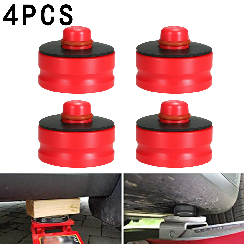 Rubber Black, Red, Blue, Yellow, Green 4pcs Automotive Jack Lift Point Pad Adapter Chassis Dedicated For Tesla Model 3