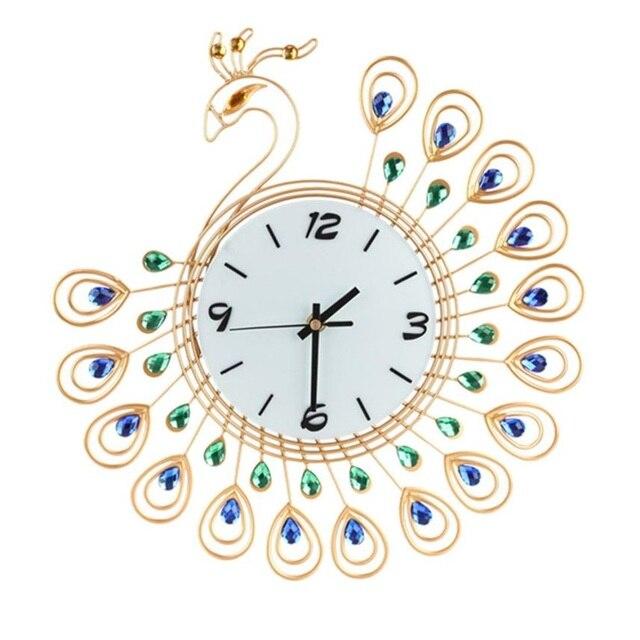 2017 Venta caliente Estilo Vintage Peacock Reloj de pared antiguo ...