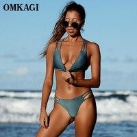 OMKAGI Brand Bikinis Set Swimsuit Swimwear Women Push Up Swim Suit Swim Wear Beachwear Sexy Braided