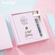 Купить онлайн JOYTOP ведро 100 список filofax Тетрадь многоцветный Шариковая ручка васи ленты Канцелярские наборы ручной книги дневник канцелярские подарочная коробка
