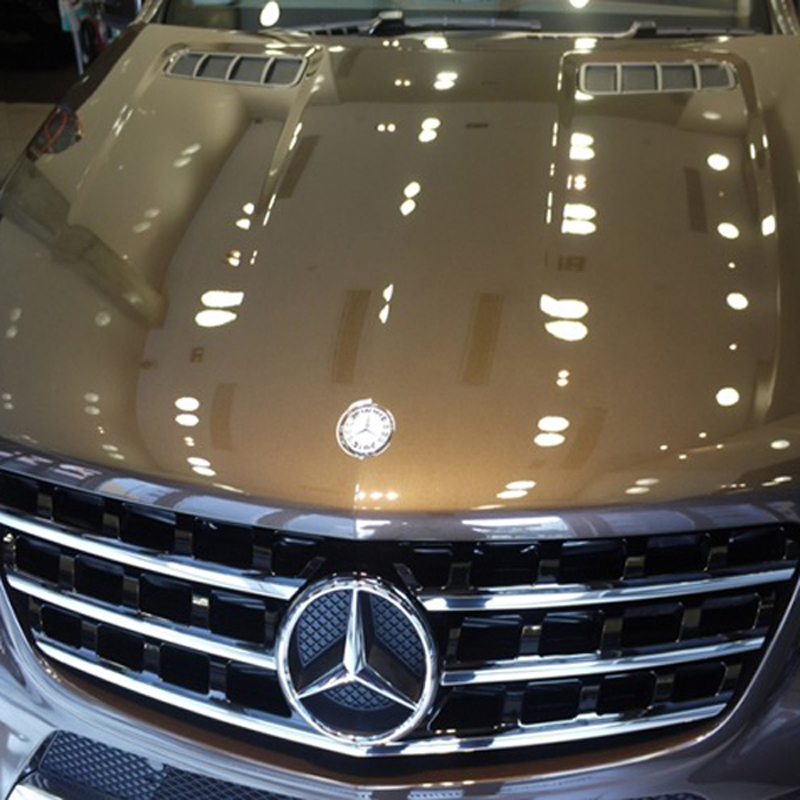 Car coating with liquid glass