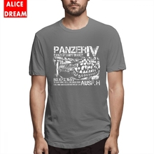 Tank t shirt Panzer IV T-shirt Men's Quality Geek Homme Tee Shirt Round Neck S-6XL Plus Size Tee Shirt Birthday Gift Tees t shirt casual cowboy bebop tee shirt unique design camiseta round collar s 6xl tee birthday gift t shirt 3d print