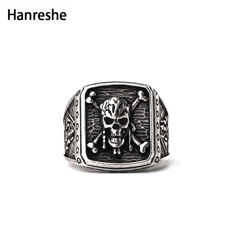 2018 New Fashion Captain Jack  Pirate Skull Capitan Ring Pirates Of The Caribbean Ring Skull Ring For Men