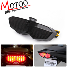 Motoo free shipping Motorcycle Integrated Turn Signal Tail Brake Light font b Lamp b font For