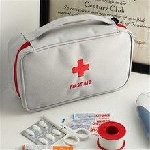 Купить с кэшбэком 1pc White Grey/ Red Medical Kit Oxford Portable Medicine Pill Storage Bag Outside Travel Bags  Unbreakable Space Saver