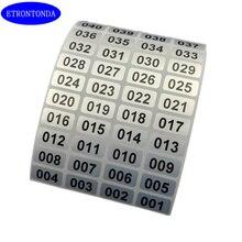 1000 серебро Последовательный Номер инвентаризации наклейки от 001 до 10000 для выбора Водонепроницаемый 20 мм x 10 мм