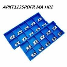 10PCS aluminum alloy blade APKT1135 MA H01 stainless steel car cermet lathe tool CNC machine