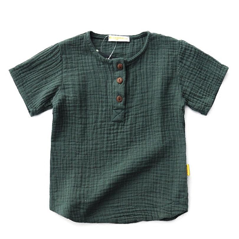 Kids Short Sleeve T Shirts Cotton Linen Children 39 S