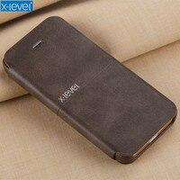 X-nivel de lujo pu Funda de cuero para iPhone 5 se Flip estilo teléfono caso para el iPhone 5S caso de la cubierta del se