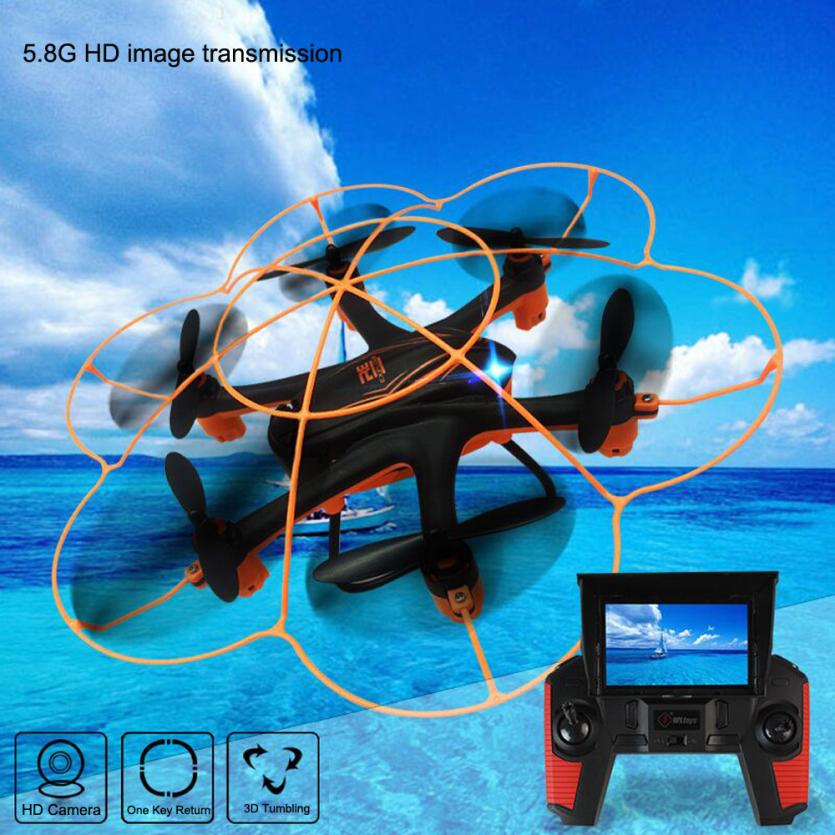HIINST RC aircraft Wltoy Q383 2.4Ghz 5.8G FPV Quadcopter Drone with 2MP Camera remote control toys for children Y1127 f04305 sim900 gprs gsm development board kit quad band module for diy rc quadcopter drone fpv