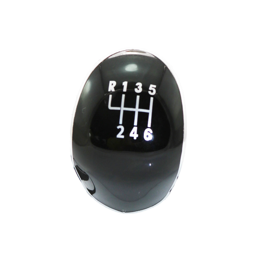 6 Speed Gear Shift Knob Black Cover For Ford Focus Fiesta C-max B-max Mondeo