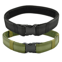 High Quality Army Green Security Combat Gear Utility 600D Nylon Duty Hunting Tactical Adjustable Waist Belt