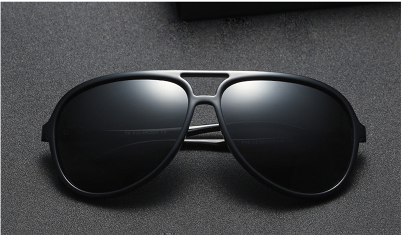 f04146e9c0f HBK Brand Men Polarized Sunglasses Designer Sport Sunglasses Driving  Fishing Sun Glasses Black Frame Eyewear Men Women UV400