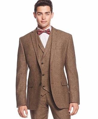 Tweed Maigre Fit Smoking Terno Hommes Masculino Dernière As Pantalon Same Brun Manteau Marié Costume Personnalisé De Pièce Bal Image 2017 Blazer Designs Slim 3 Costumes RX4zO4q