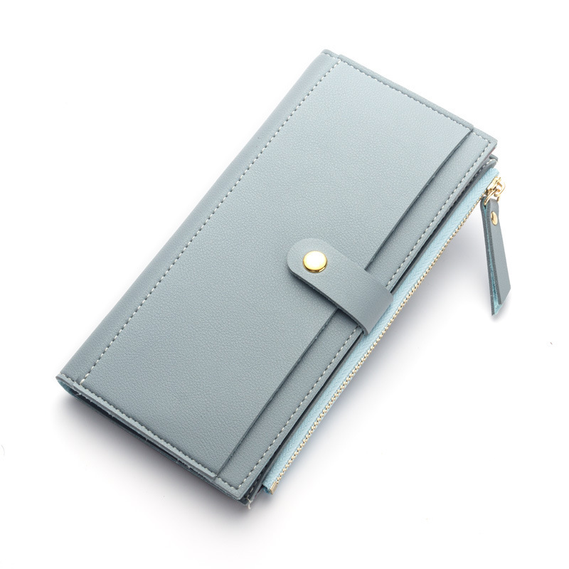 Women Long Wallet thread Leather Coin Purse Female Clutch coin Card Holders Solid Candy Color Hasp lady Wallet Girl with tassel