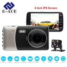 E-ACE Видеорегистраторы для автомобилей 4 дюймов ips Экран Авто Камера Двойной объектив FHD 1080 P регистраторы видео Регистраторы Ночное видение g-сенсор регистратор