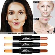 Bronzer& dermacol corretivo highlighter contour maquiagem facial concealer stick base pen