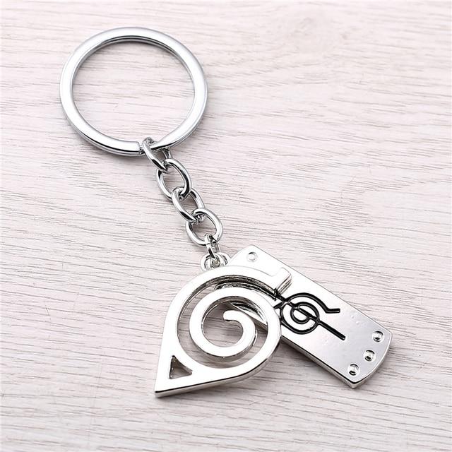 J Store New Arrival Silver Naruto Konoha Leaf Village Symbol Alloy