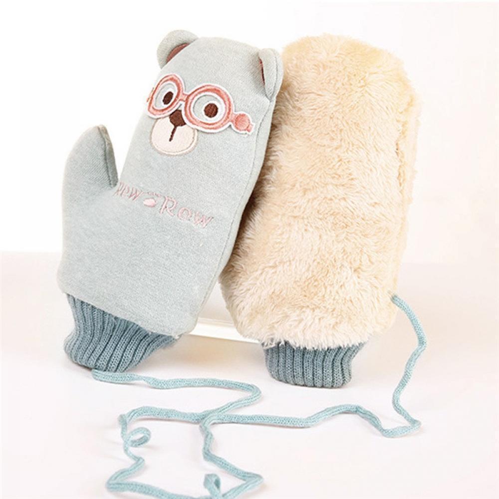 Winter Of Warm Neck Hanging Gloves Gloves #4066D Boys Kawaii Mooistar Hot Thicken Girls Fashion