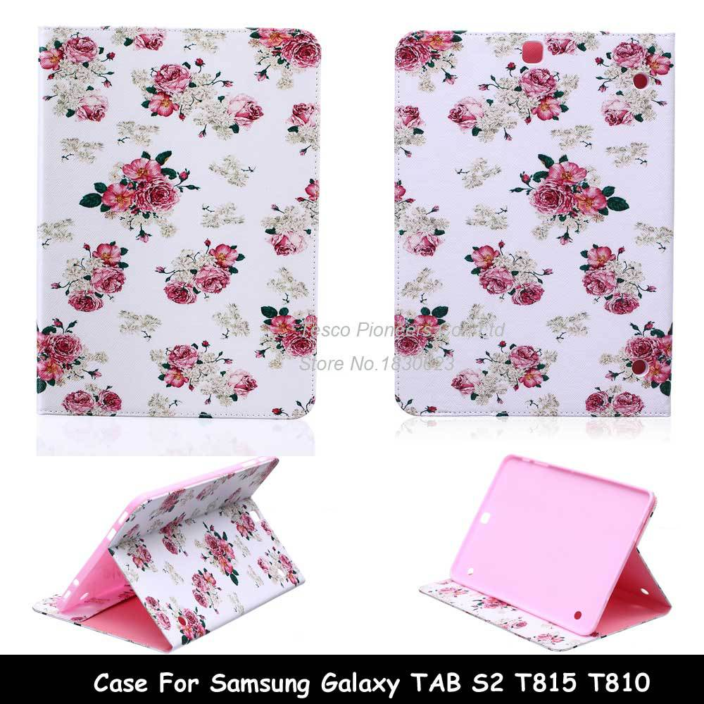 for galaxy Tab S2 9.7 Protective leather cover case For samsung galaxy Tab S2 9.7 SM-T810 T815 9.7 tablet case Free Shipping samsung galaxy tab s 2 sm t810 white