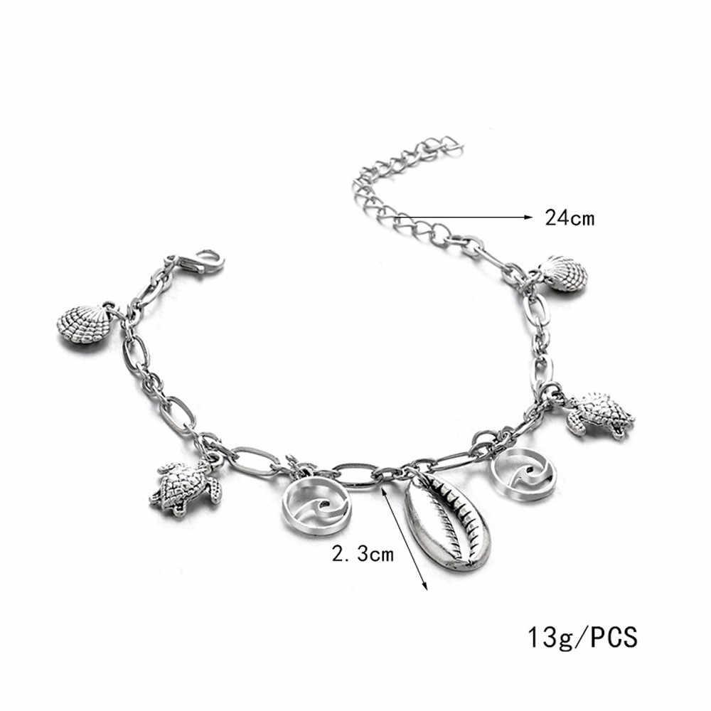 Diomedes ножной браслет Новые богемные Морская звезда оболочки женские браслеты для щиколотки лодыжки браслеты на ногу ножной браслет в стиле «Бохо» пляжные аксессуары July9