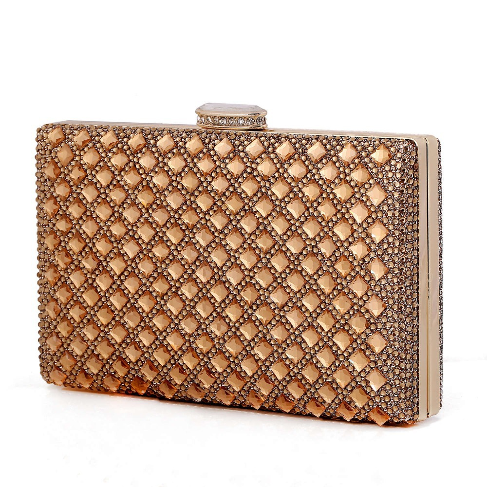 new 2016 gold Clutch Women Evening bags Ladies Crystal Day ...