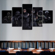 5 Piece HD Printed Video Game Rainbow Six Special Forces Poster Wall Picture for Home Decor