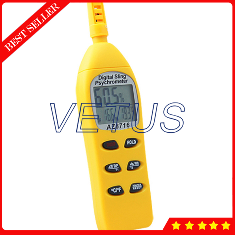 AZ8716 Hygrometer-probe/DP/WBT handheld high-precision hygrometer / dew point / wet bulb temperature detector ht 86 digital thermometer hygrometer wet bulb dew point temperature meter o0s0