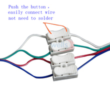 10 pcs 2 pin push-in terminal connection quick  cap materials for strip