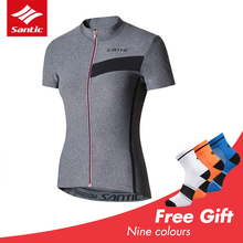Santic Cycling Jersey Women Bicycle Clothes MTB Bike Clothing Short Sleeve Shirt Quick Dry Sportwear Outdoor XL