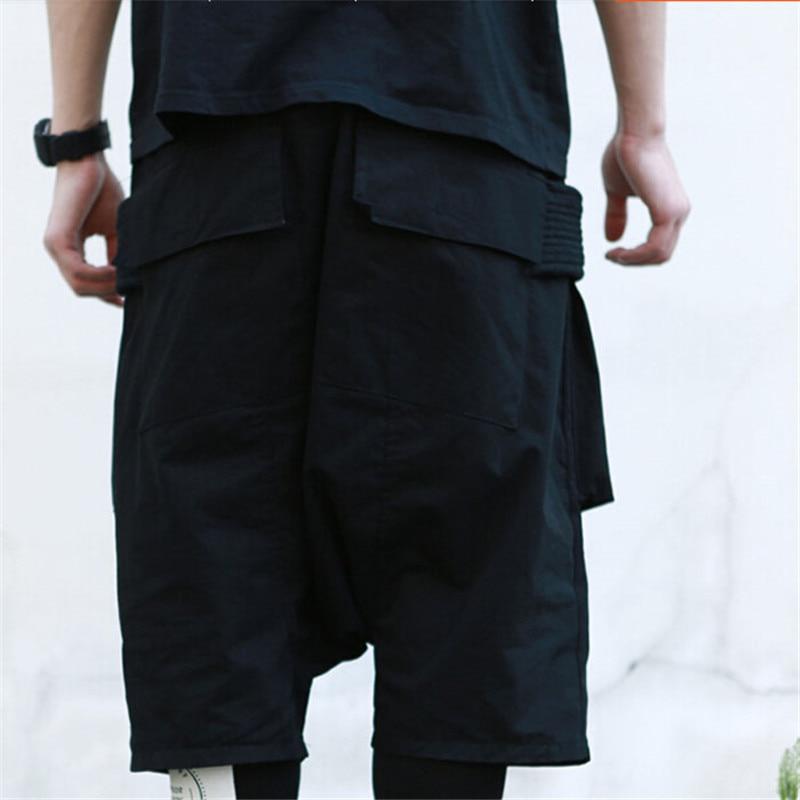 Nuevos Coreanos Talla Oscuro Para Negro Hombre De Siete Estilo Grande Pantalones Varios Bolsillos rZqPpgwr