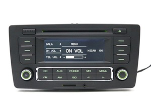 Image 3 - Uso para skoda pq octavia rádio yeti stereo rcn210 mp3 aux cd player