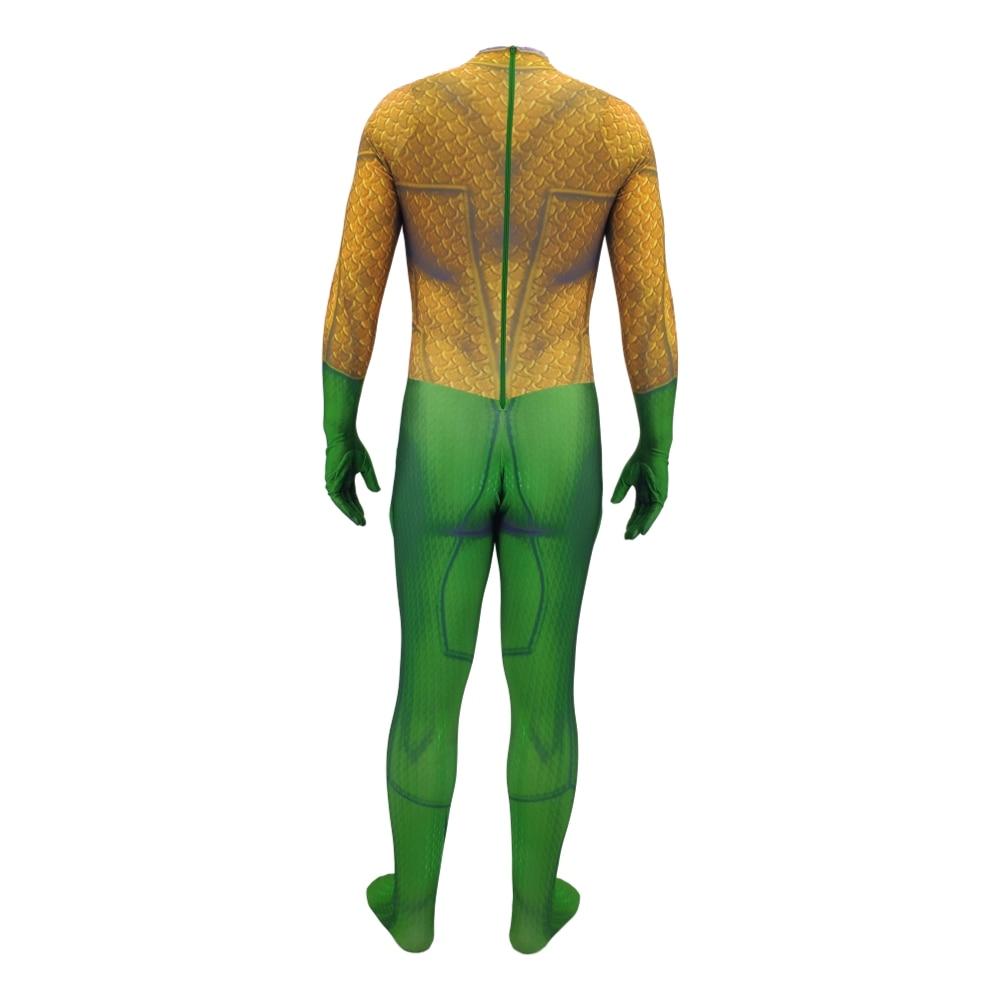 Aquaman Arthur Curry Cosplay Costume Christmas Halloween Costume Cosplay Aquaman Costume Fancy 3D Printing Spandex Jumpsuit