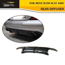 Стайлинга автомобилей углерода задний диффузор спойлер для Benz R230 SL55 AMG бампер только