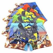 10 Pcs/pack Baby Boys 3D Cartoon Batman Underwear Kids Boy Cotton Panties Short Briefs Children Underpants 5 Colors 6-13T недорого