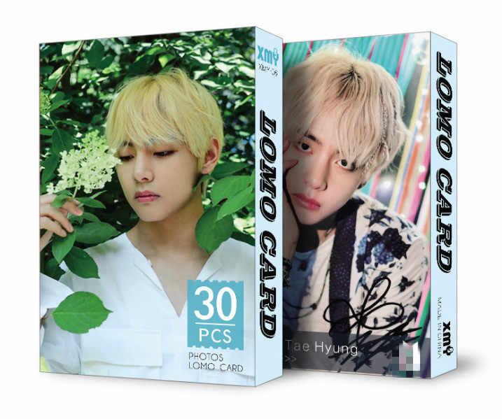 30 pçs/set k-pop bangtan meninos álbum lomo cartões nova moda papel foto cartão hd photocard