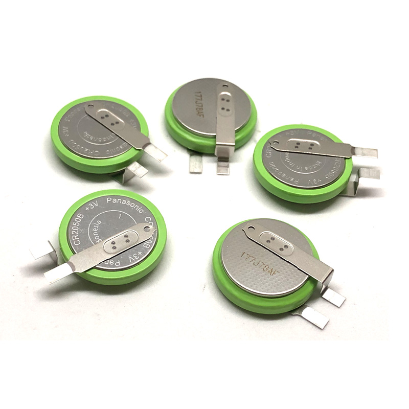 10pcs lot Panasonic CR2050B CR2050 3V High Temperature Lithium mManganese Dioxide Car Tire Pressure Monitoring Button Battery in Button Cell Batteries from Consumer Electronics